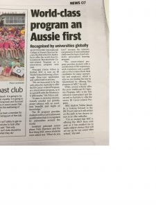 Sunshine Coast Daily article