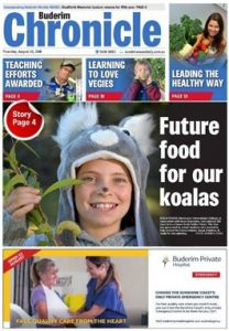 Buderim Chronicle front page